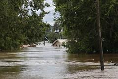 Trailer on Side on Lower Line (polkabeat) Tags: lagrange flood hurricaneharvey