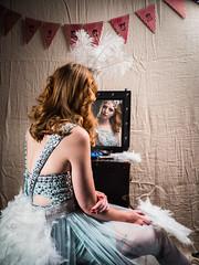Mirror, mirror on the wall..... (susie2778) Tags: olympus omdem1mkii gavinhoey gavtraincom fadedcircus circus workshop bethsmith officialbethsmith olympusm12100mmf40 portrait mirror reflection showgirl