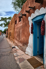 Adobe house (another_scotsman) Tags: adobe house architecture santafe newmexico blue door