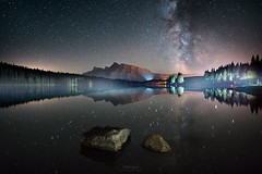 'Times Square Banff' - Two Jack Lake (Gavin Hardcastle - Fototripper) Tags: two jack lake banff national park astrophotography milky way reflections canada alberta
