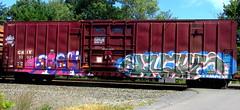 CKIX 50037 (timetomakethepasta) Tags: sushi ckix boxcar freight train graffiti art lucky yuma benching selkirk new york photography