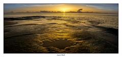 1 2 3 Soleil (Laurent Asselin) Tags: aube sunrise soleil leverdesoleil lumière couleurs orange reflets flaques eau mer océan rochers paysage kourou guyane
