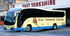 East Yorkshire Coaches 90 A8 EYC leaves Anlaby Rd Depot, Hull on Saturday private hire duties (Gobbiner) Tags: 90 volvo eyms hull elite eastyorkshirecoaches b9r plaxton a8eyc yx14sfz anlabyrd
