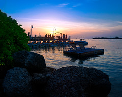 Watching the sun set in Key West (Ed Rosack) Tags: usa landscape sunset street water harbor ©edrosack panorama florida clear dock ocean thekeys cloud reflection sky boat cityscape seascape keywest calm cloudy dusk