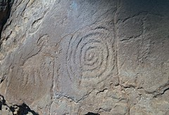 Petroglyphs / Mill Creek Canyon (Ron Wolf) Tags: anthropology archaeology millcreekcanyon moab nativeamerican anthromorph anthropomorph bighornsheep petroglyph rockart spiral zoomorph utah