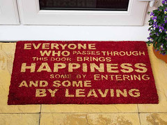 The Doormat of Happiness (fstop186) Tags: doormat happiness humour fun joke friends family viola flowers flowerpot mat rug coir welcome greeting laughter motivational image inspirational welcomemat