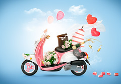 Wedding (noor.khan.alam) Tags: vintage scooter love wedding travel cake valentine two holiday married happiness stemware veil groom bride celebration marriage champagne motorcycle retro justmarried unusual honeymoon creative art flowers red symbol balloons bouquet black day lovely romance happy beauty young beautiful trip blue pink romantic heart white motorbike vehicle couple funny transport background russianfederation