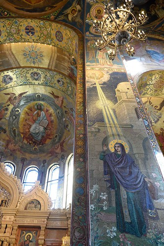 Interior of Church of the Savior on Spilled Blood in Saint Petersburg, Russia ©  transitpeople