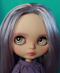 AGATHA (_danie11e_) Tags: blythe doll custom ooak girl lavender lilac hair purple tbl factory fa art