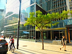 Toronto City scene.....    1 of 3 (Trinimusic2008 - stay blessed) Tags: trinimusic2008 judymeikle urban city kingst people candid ttc streetcar september 2017 fall toronto to ontario canada streetphotography architecture glass buildings
