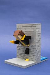 220 (Brickolaje) Tags: mutant phasing wall lego kitty pryde shadowcat marvel xmen miniland