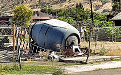 Need To Make Concrete? (Eyellgeteven) Tags: concrete mixer cement truck cementtruck abandoned barrel heavyequipment equipment detached beatup rust rusty rusted rustyandcrusty forgotten vehicle disassembled dilapidated faded retired junk rotating blue white oxidized oxidation outtopasture old used ugly americanmade madeinusa eyellgeteven construction constructionequipment