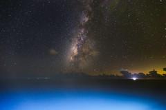 銀河海@sea galaxy (vike chang) Tags: 銀河 galaxy sea night 太平洋 pacific ocean 遊輪 cruise ship blue sky