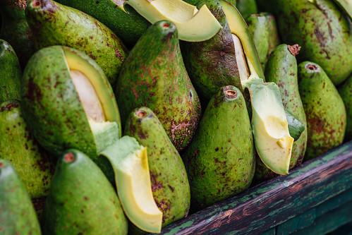 Avocados in Market, Piedecuesta Colombia