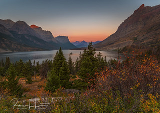 The First Blush Of Sunrise, St. Mary Lake, Glacier National Park, Montana