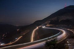 Heart Touching Way (hisalman) Tags: mountains longexposure lighttrails jabaljais rasalkhaimah hisalman canon