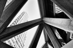 Transamerica Pyramid (draketoulouse) Tags: san francisco sanfrancisco street streetphotography architecture skyscraper blackandwhite monochrome city urban building atrium