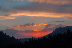 Last light in Sequoia (njaaames) Tags: california clouds sky sunset sequoianationalpark sun sequoia trees mountains