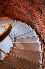 Lighthouse stairs (Maya K. Photography) Tags: light daylight lighthouse stairs indoor usa us unitedstatesofamerica massachusetts aquinnah marthasvineyard america history historicalmonuments brick stone nikon nikkor flickr vacation shadows photo photography coast majkakmecova