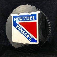 New York Rangers Hockey Puck (davekaleta) Tags: lego new york rangers nhl national hockey league puck ice ny nyr nyrangers