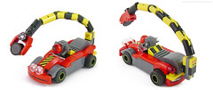 Mini Racers: The Scorp-Ion (Unijob Lindo) Tags: lego leg godt klocki brick bricks car cars vehicle vehicles kart mario karting nexo knights monster voodoo ball joint char character tiny small magnet arm long arms mudguard mudguards race racing magnets tile tiles headlights turbo stripes yellow black red gray grey dark bluish teeth fridge spyrius slope curved slopes guards wacky racers troll science scientific