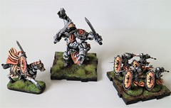 Runewars Miniatures Orange Set (wes.obryan) Tags: runewars miniatures hepitude skeleton daqan waiqar maru hawthorne infantry shield