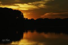 Summer Nights and my Radio (wilbias) Tags: ontario canada sky lake sunset orange evening sundown telephoto suset hamilton sunet christie surise
