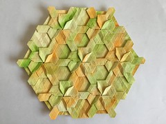 Knot tessellation - Wei Fu variation 3 front (Monika Hankova) Tags: origami tessellation wei fu paper