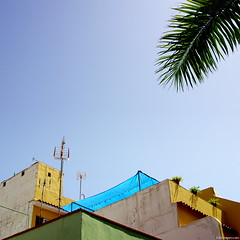 Blue Tarp (Erik Schepers) Tags: tenerife spain travel traveling street house minimal minimalism canarias wander wanderlust canaryislands building architecture sky blue houses rooftop