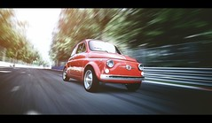 Fiat 500 (Thomas_982) Tags: gt5 cars fiat 500 gt6 classic red rosso monza outdoor street italy ps3 gran turismo ps4
