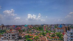 The city (maksudulpunom) Tags: city town dhaka bangladesh colour happiness big huge sky blue wow beauty beautiful nice sunny sun great concrete cloud vast land landscape samsung difficult country freedom fly urban life