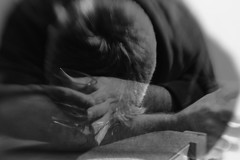 No more hope (gernot.glaeser) Tags: blackandwhite blur lensbaby monochrome offcameraflash people selfportraiture doubleglass50 doubleexposure deu explore monochromeworld nikon personen portrait multipleexposure