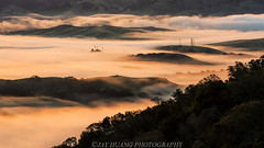 Fog In The Hills (Jaykhuang) Tags: bayarea eastbay trivalley lowfog sunrise rollinghills lights jayhuangphotography pleasanton sunol california