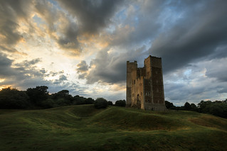 Last light on Orford castle, Suffolk