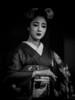 Mamefuji Portrait- Monochrome (Rekishi no Tabi) Tags: mamefuji maiko apprenticegeiko apprenticegeisha gion gionkobu kyoto japan leica leicacam