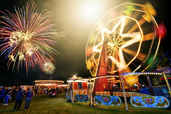 Astle Park vintage fairground (PentlandPirate of the North) Tags: astlepark steam rally vintage chelford cheshire bigwheel fireworks cheating