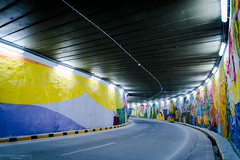 Tunnel of colors (Mariano Colombotto) Tags: sanmigueldetucuman tucuman argentina streetphotography street calle callejera tunnel tunel colors colores colorful nikon travel photographer photography city ciudad graffitis