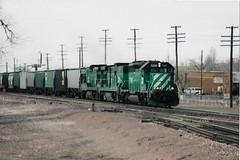 Burlington Northern 7240 (ashman 88) Tags: bnsf burlingtonnorthernsantafe burlingtonnorthern7240 holbrookarizona cascadegreen locomotive holbrook arizona az freighttrain