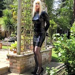 PatsyPVC Sissy Shiny Slut CrossDressing in a Womens Latex Dress thumbnail