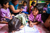 Girls Writing  6160 (Ursula in Aus) Tags: banhuaymaegok banhuaymaegokschool hilltribeeducationprojects maehongson maesariang thep thailand