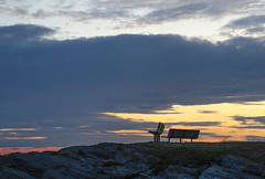 (amy20079) Tags: nikond5100 newengland maine ocean bench sunset clouds summer august seaside