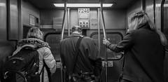 Metra Riders (Jovan Jimenez) Tags: samsung smg935t galaxy s7 edge rear camera people metra train metro chicago black white gray phone cinematic monochromatic transportation pubic transit monochrome bw passenger