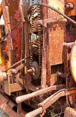 Rusty Lines! (J.R. Rondeau) Tags: rondeau windsor ontario essexcounty farm equipment rust canoneos tamron2875 photoshopelements10