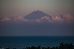 Morning view of Bali (Vagabundina) Tags: indonesia bali lombok morning sunshine volcano sunrise sun mountain sea seascape scenery landscape mist coulds ocean sengiggi southeastasia nature palms forest green nikon nikond5300 dsrl atmosphere ambience
