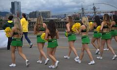 Cheers (swong95765) Tags: cheer cheerleader parade osu pretty beauties skirts colors longhair college university