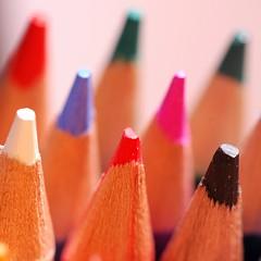 The Countdown (Puckpics) Tags: pencil crayon macro closeup colour colours