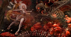 "Not Today, Satan! ~ (LaDonna Oceanlane - ""Lala"") Tags: secondlife ladonnaoceanlane neonspiderfoot catwa maitreya cureless aii thewhitecrow swallow colescorner muka curemore disorderly dysfunctionality anc {anc} hpmd poseidon gacha kitsune bento fantasy fiftylindenfriday geta yokai skeleton"
