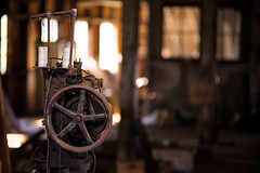 20170806-Yost44 (David rr Homer) Tags: abandoned building rundown dust grime texture creepy leather sowing machine