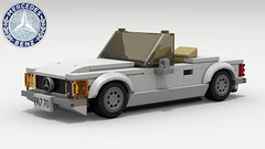 Mercedes-Benz SL Roadster (revised) (Tom.Netherton1) Tags: german germany mercedesbenz mercedes benz classic vintage roadster convertible car cars city v8 vehicle old famous lego ldd legos digital designer lxf dropbox download pov povray power sl roader road
