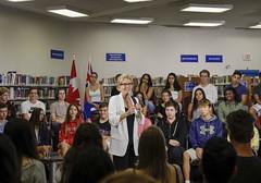 _MG_8329 Premier Kathleen Wynne visited Lawrence Park High School. (Ontario Liberal Caucus) Tags: school highschool colle hunter education students eglingtonlawrence toronto
